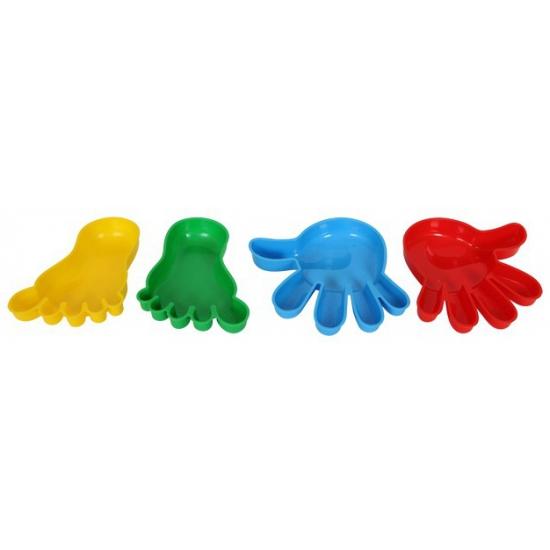 Handen en voeten zandbak vormen