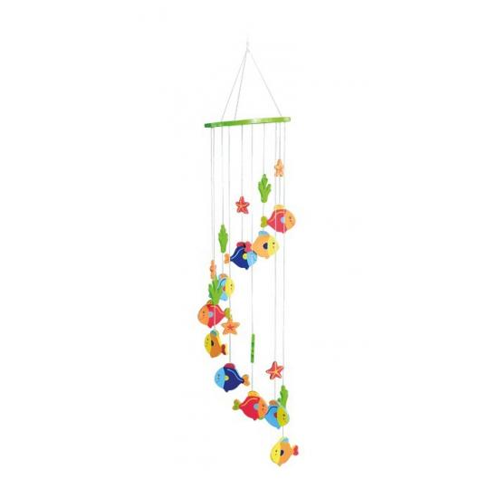 Hangdecoratie mobiel voor kinderen met vissen 65 cm