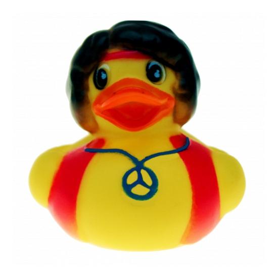 Hippie man badeendjes 5 cm