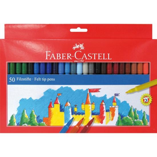 Hobby viltstiften gekleurd 50 stuks