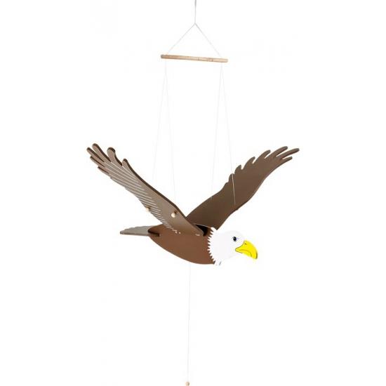 Houten adelaar trekpop 73 cm