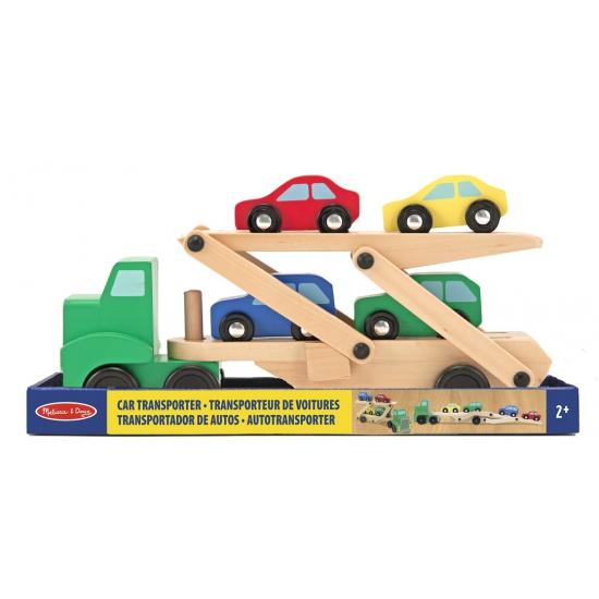 Houten auto transportwagen