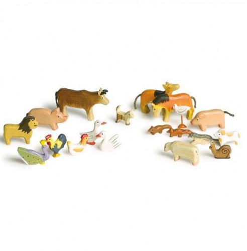 Houten dieren 20 stuks