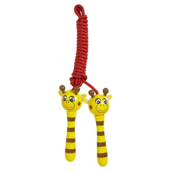 Houten giraffe springtouw