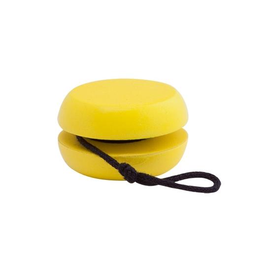 Houten jojo geel