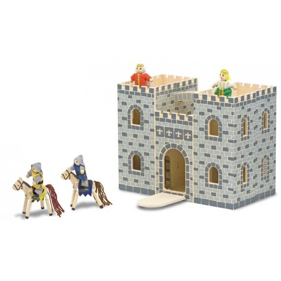 Houten kinder kasteel met accessoires