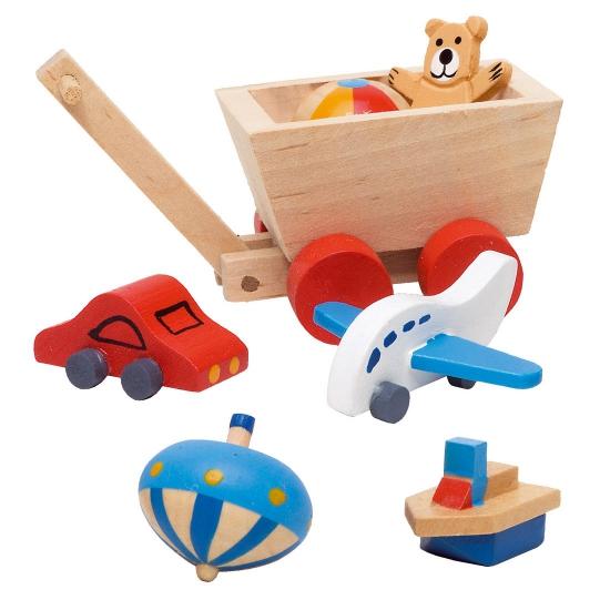 Houten poppenhuis kinderkamer accessoires