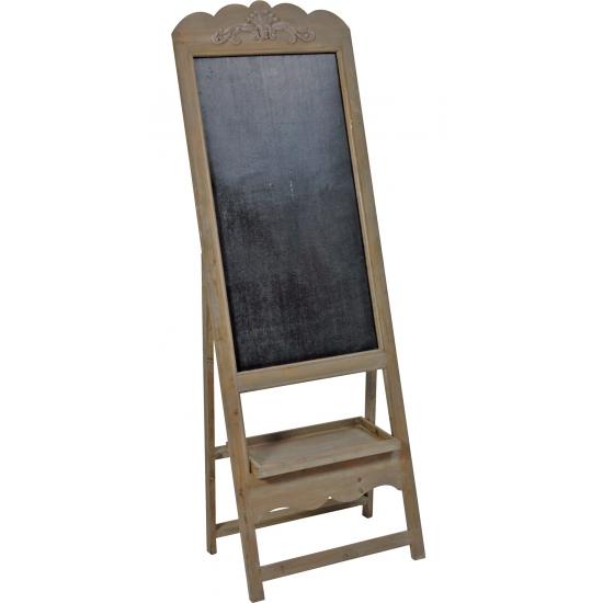 Houten schoolbord antiek bruin