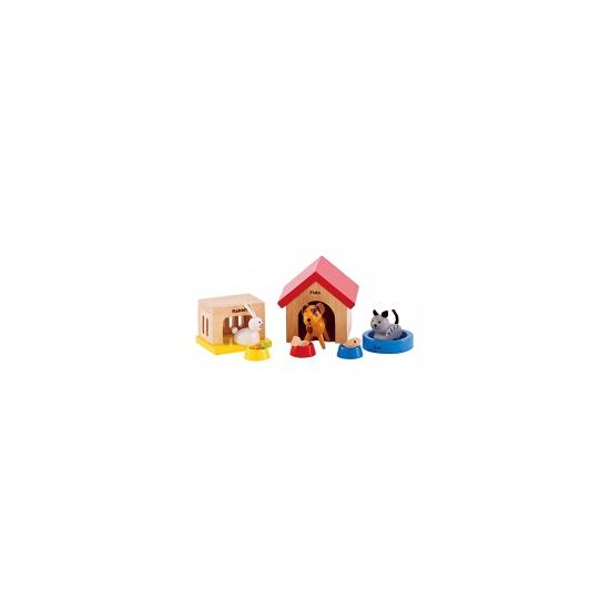 Huisdierenset poppenhuis 12 delig