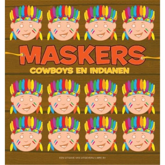 Indianen maskers om te knutselen 10 stuks
