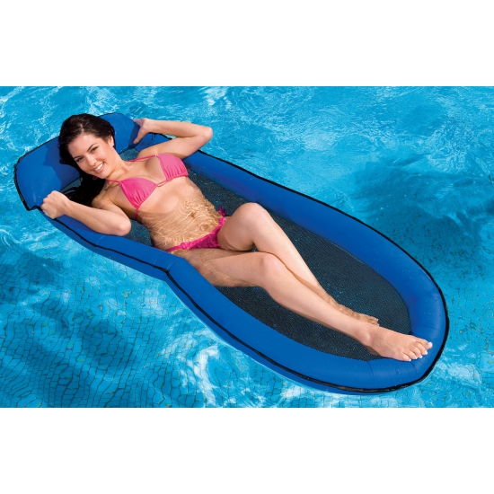 Intex waterbed met opblaas rand