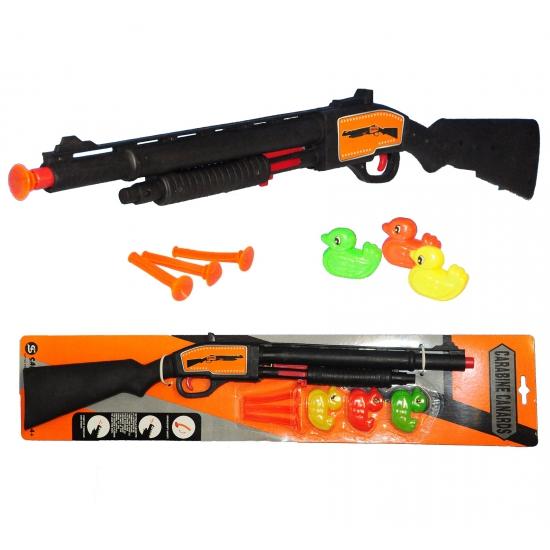 Jachtgeweer met pijltjes en eendjes
