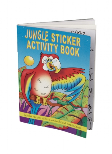 Jungle kleurboek met stickers