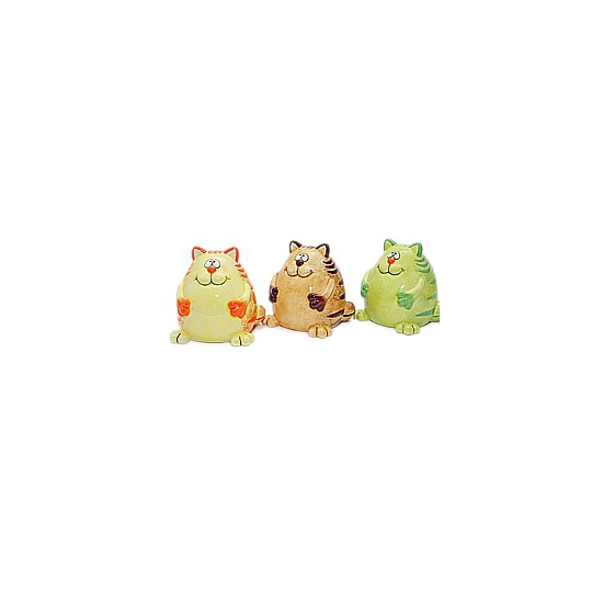 Katten spaarpot bruine 12 cm