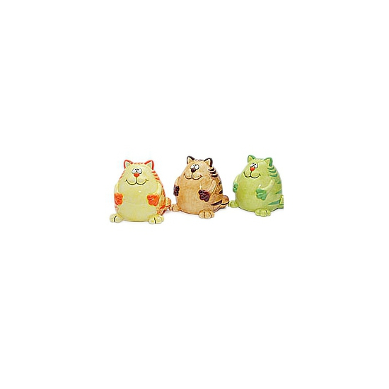 Katten spaarpot groene 12 cm