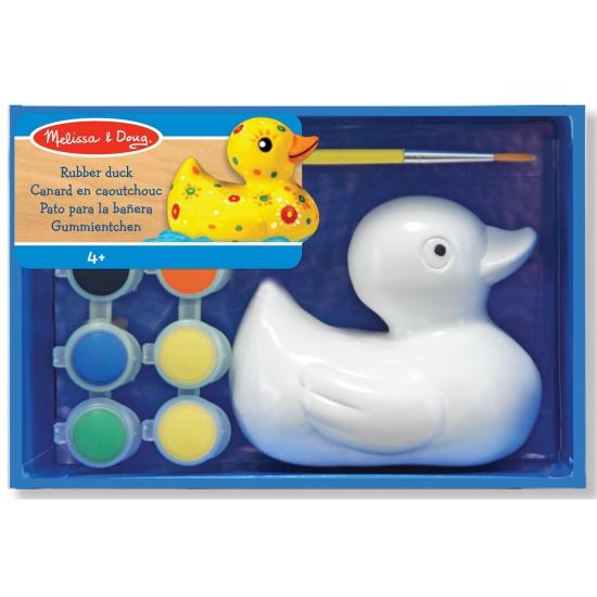 Kinder badeend met verf