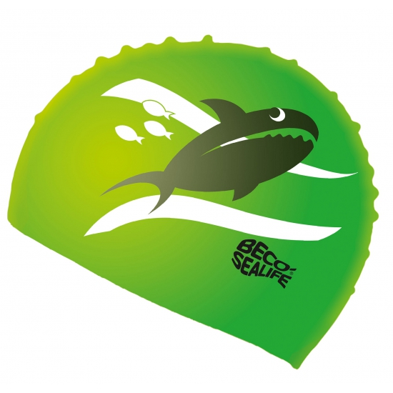 Kinder badmuts van siliconen groen