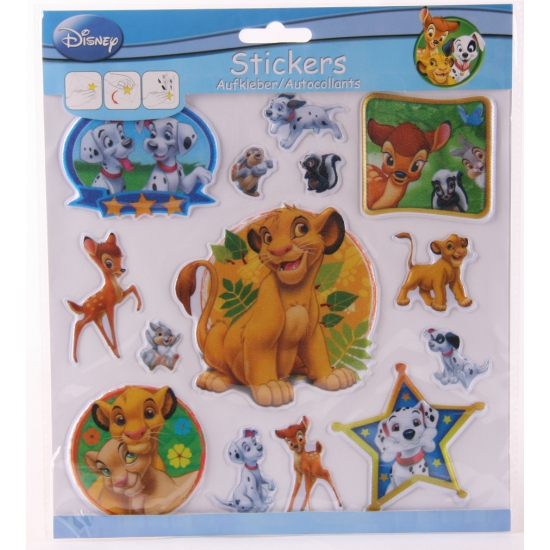 Kinder Disney 3D stickervellen dieren