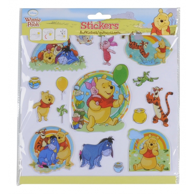 Kinder Disney Winnie de Poeh 3D stickervellen