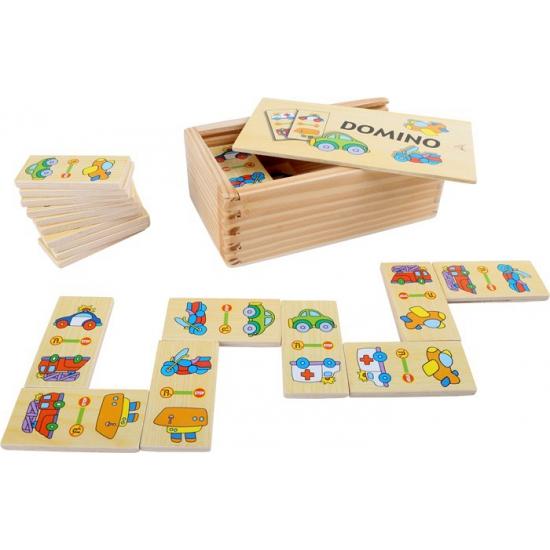 Kinder domino spel voertuigen