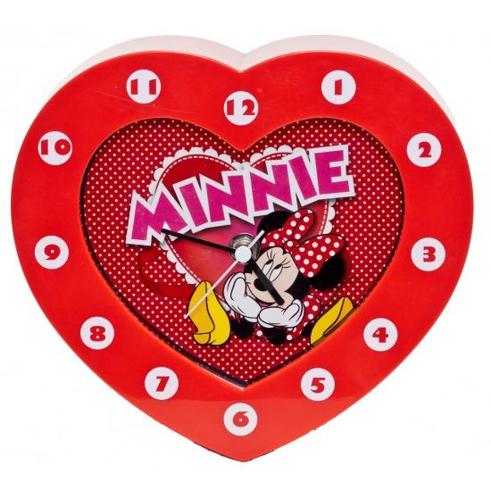 Kinder klokken Minnie Mouse rood