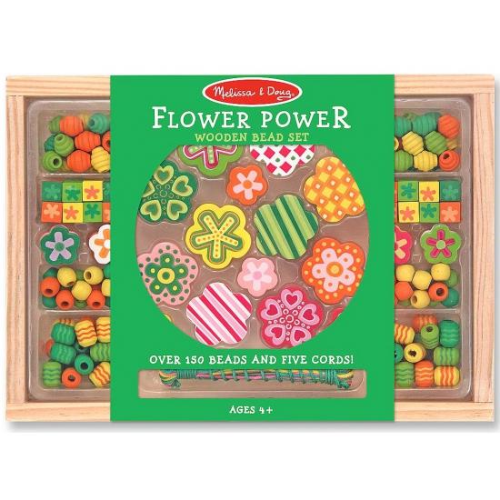 Kinder kralen pakket met bloemetjes
