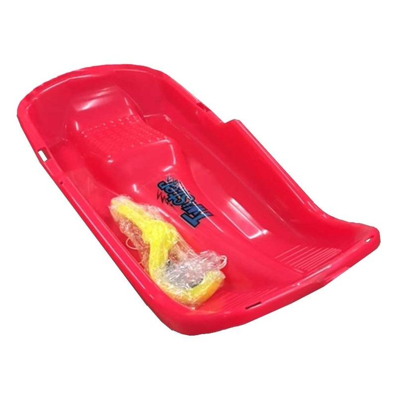 Kinder plastic slee Bob model rood