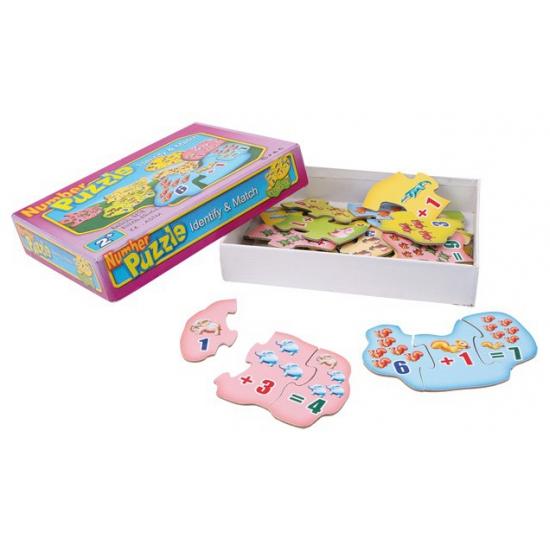 Kinder puzzel leer rekenen 12 stuks