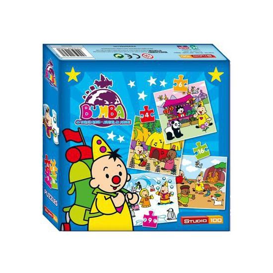 Kinder puzzels 4 in 1 van Bumba