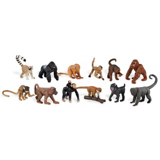 Kinder speelgoed apen van plastic