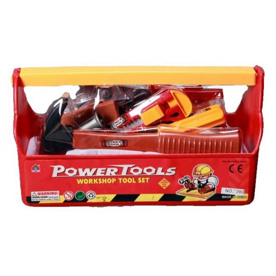 Kinder speelgoed gereedschap in box