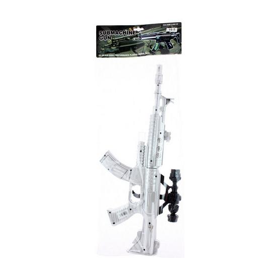 Kinder speelgoed geweer zilver