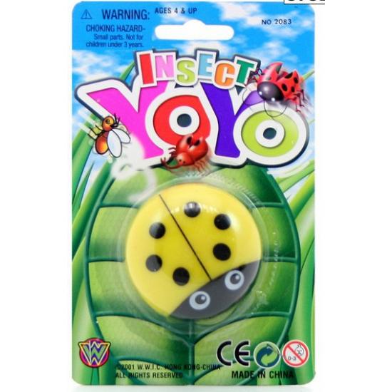 Kinder speelgoed jojo lieveheersbeestje