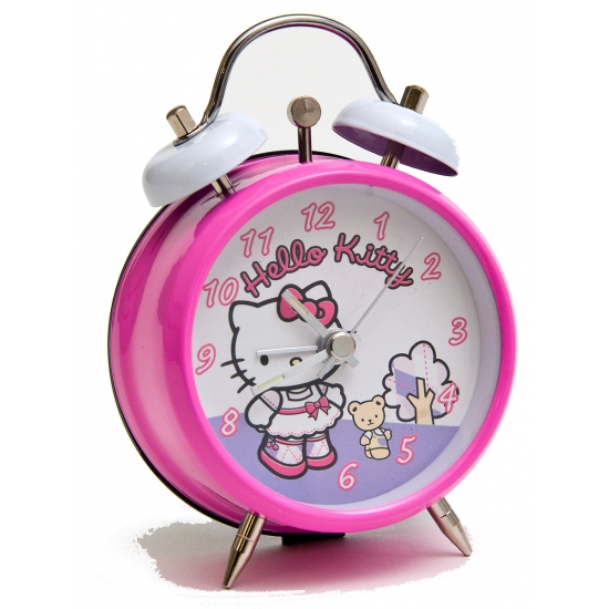 Kinder wekkers Hello Kitty roze