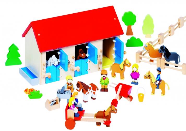 Kinderspeelgoed houten manege