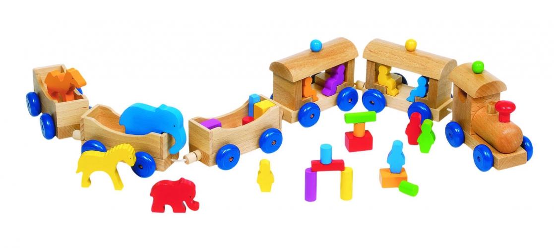 Kinderspeelgoed houten trein