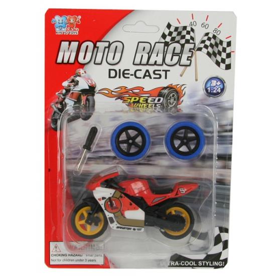 Kinderspeelgoed motor rood