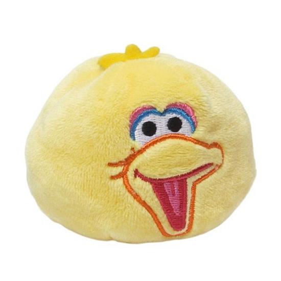 Kinderspeelgoed pluche Sesamstraat bal gele vogel