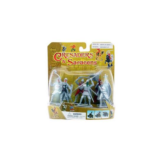 Kleine speelgoed figuur ridders