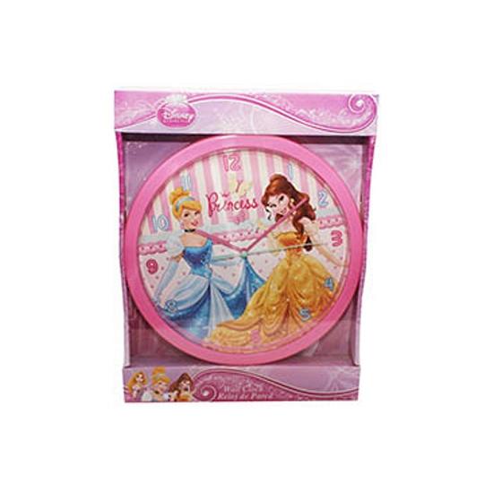 Klok met Belle en Assepoester 25 cm