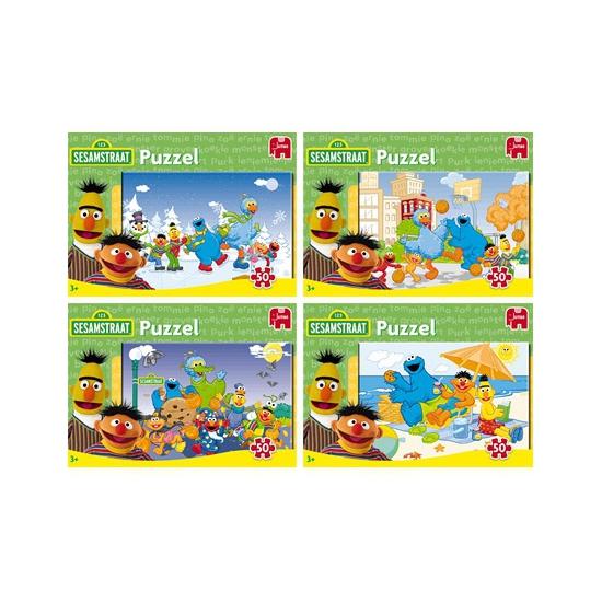 Legpuzzels van Sesamstraat 50 stukjes
