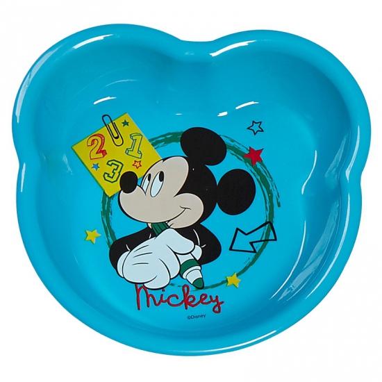 Lichtblauwe Mickey Mouse schaaltjes van plastic 16 cm