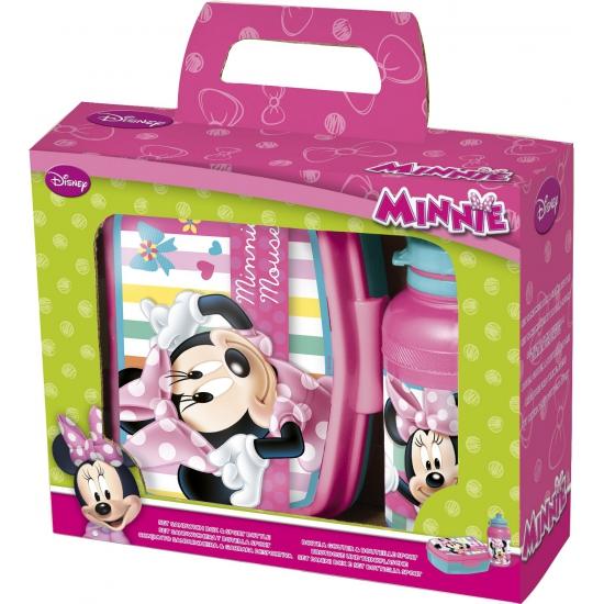 Lunch trommel met beker van Minnie Mouse