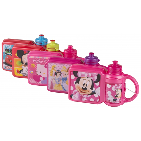 Lunchbox en beker met plaatjes van Disney Princess