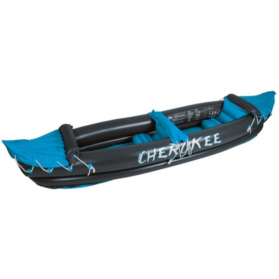 Luxe opblaasbare kano grijs