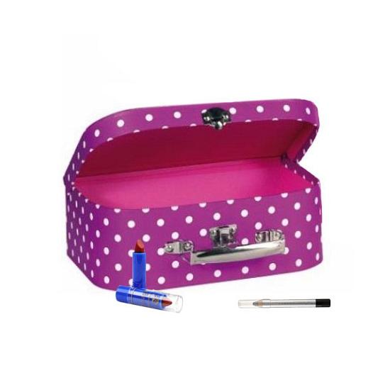 Make up opbergkoffer roze 25 cm