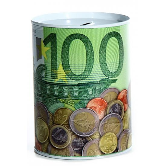 Metalen spaarpot 100 euro