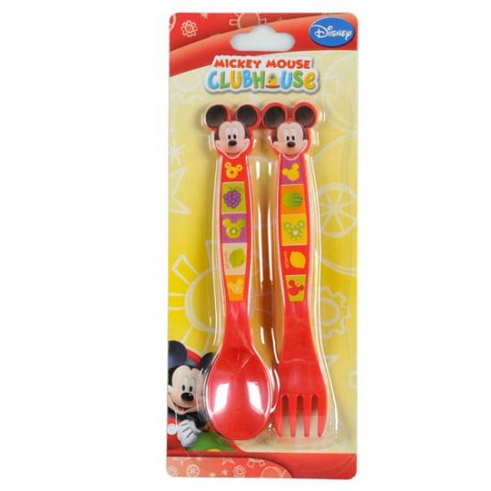 Mickey Mouse bestekset 2 delig