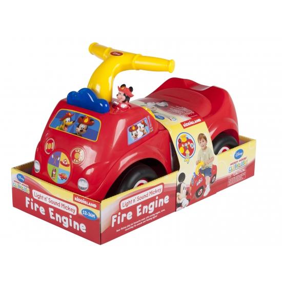 Mickey Mouse brandweer loopauto met geluid
