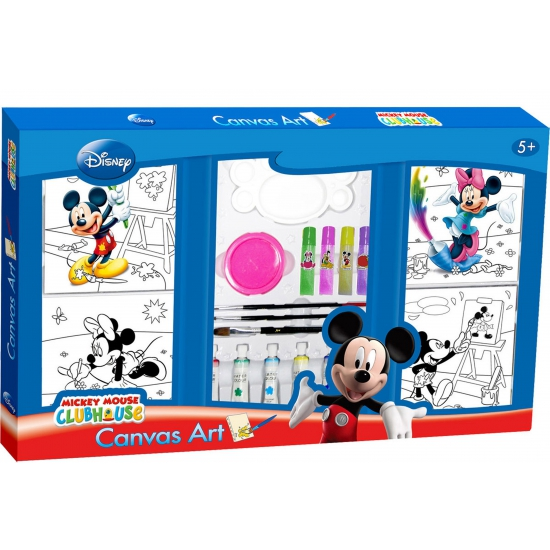 Mickey Mouse canvas verfset
